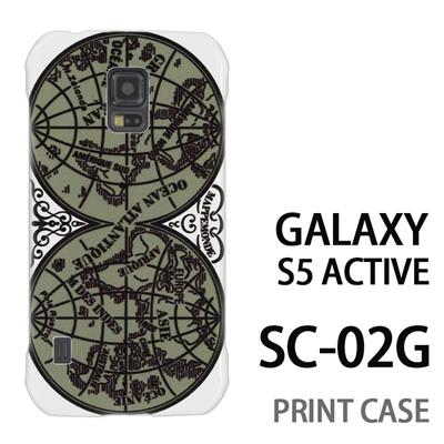 GALAXY S5 Active SC-02G 用『0707 世界マップ 緑』特殊印刷ケース【 galaxy s5 active SC-02G sc02g SC02G galaxys5 ギャラクシー ギャラクシーs5 アクティブ docomo ケース プリント カバー スマホケース スマホカバー】の画像