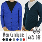 2ND Edition Men Basic V-Neck Cardigan Available In 7 Colors From Size M To XXL (#outerwear #Pullover)