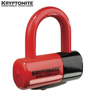 KRYPTONITE(クリプトナイト) EV4 ディスクロック レッド 999621 【バイク用品 盗難防止品 鍵 ロック】の画像
