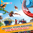 [ E-Holiday Promotion]Universal Studio Singapore +$5 meal voucher E-Tickets/ No Collection Required