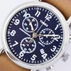 TIMEX タイメックス 腕時計 メンズ ウィークエンダー クロノグラフ 40mm ダイアル ストラップ TW2P62300 ブルー ネイビー ダイアル  ブラウン レザーベルト