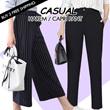 Womens Casual Harem Pants New Woman Fashion Elastic Waist Loose Linen Capri Pant