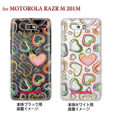 【MOTOROLA RAZR ケース】【201M】【Soft Bank】【カバー】【スマホケース】【クリアケース】【フラワー】【Vuodenaika】 21-201m-ne0004caの画像