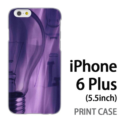 iPhone6 Plus (5.5インチ) 用『No1 L 電球アップ』特殊印刷ケース【 iphone6 plus iphone アイフォン アイフォン6 プラス au docomo softbank Apple ケース プリント カバー スマホケース スマホカバー 】の画像