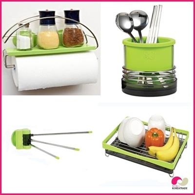 【日用品】 spider loc kitchen キッチン4setB(green)の画像