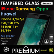 iPhone X XS MAX XR 8 Plus S9 S8 7 6 5 S OPPO Huawei Tempered Glass Screen Protector Samsung Note 9