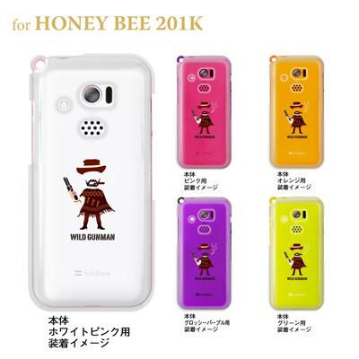 【HONEY BEE ケース】【201K】【Soft Bank】【カバー】【スマホケース】【クリアケース】【ユーモア】【MOVIE PARODY】【WILD GUNMAN】 10-201k-ca0046の画像
