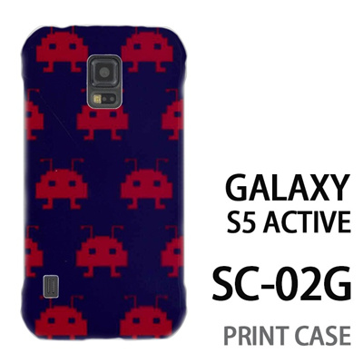 GALAXY S5 Active SC-02G 用『0709 インベーダー赤ドット』特殊印刷ケース【 galaxy s5 active SC-02G sc02g SC02G galaxys5 ギャラクシー ギャラクシーs5 アクティブ docomo ケース プリント カバー スマホケース スマホカバー】の画像