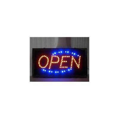 【レビュー記載で送料無料!】OPEN看板/LEDネオンサイン看板/インテリアに/ブルーの画像