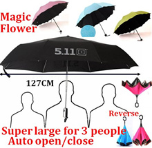 Auto open close Magic Umbrella/UV light Super Large Reverse Umbrella/Nano/511 Tactical Umbrella