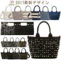 2017年新作デザイン スタッズバッグ(トートバッグ/ハンドバッグ/クラッチバッグ) 迷彩 デニム