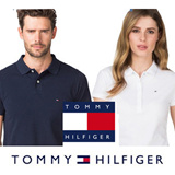 [Tommy Hilfiger]100% Authentic men and women short-sleeved pK polo T-shirts
