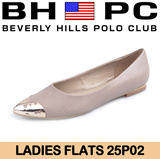 [BHPC] Beverly Hills Polo Club - Ladies Flats 25P02. Available: ALMOND. Guaranteed 100% Authentic Local Seller