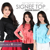 Premium Quality Signee Top_6 colors_Fit Size S-L besar_100% Cotton_Trend Fashion_Blouse Wanita / Womens Blouse / Pakaian Wanita