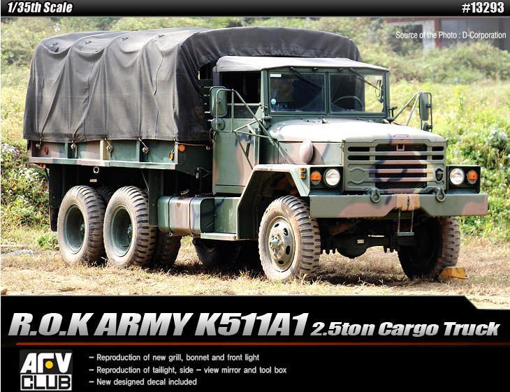 【クリックで詳細表示】ACADEMY Plastic Model Kit 13293 | ROK Army K511A1 Cargo Truck | SCALE 1/35 | Model Building | Ship&Tank&Plane&Carrier Building Kit [Free Shipping]