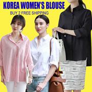 【July 29th】Korean Shirt Loose Fit Fashion Blouse Dress Long T-Shirt Buy 2 Free Shipping