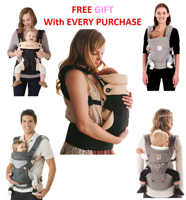 Baby Carrier Ergobaby Four Position 360 Cool Air ? Adapt/ HipSeat ? Organic Teething