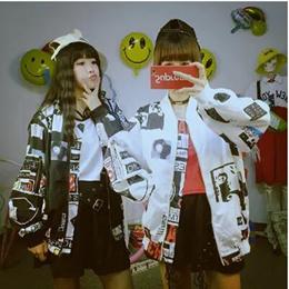 即日発送韓国ファッション BIGBANG コートパーカー ★G-Dragon BIGBANG*MADE* コート パーカーアウター 長袖 カップル 大きいサイズ LOSERと同じデザイン野球服大人気★