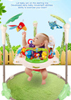 ★★FREE CARPET + FREE DELIVERY ★★ Rainforest Jumperoo - Introducing Baby to Full Exciting Sights and Sounds with 360° Rotating Seat Baby Swing★Developmental Toy★Rocker Bouncer★Child Restraint★
