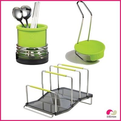 【日用品】 spider loc kitchen キッチン3setA(green)の画像