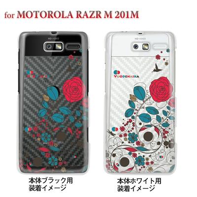 【MOTOROLA RAZR ケース】【201M】【Soft Bank】【カバー】【スマホケース】【クリアケース】【フラワー】【Vuodenaika】 21-201m-ne0008caの画像