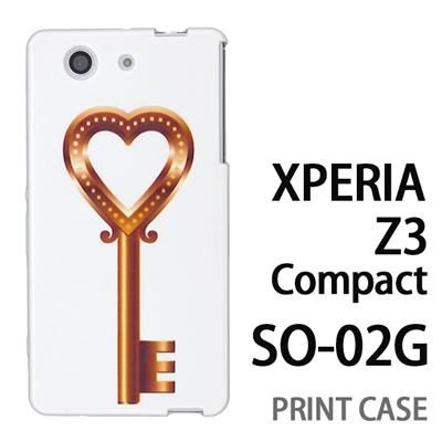 XPERIA Z3 Compact SO-02G 用『0113 恋の鍵 金』特殊印刷ケース【 xperia z3 compact so-02g so02g SO02G xperiaz3 エクスペリア エクスペリアz3 コンパクト docomo ケース プリント カバー スマホケース スマホカバー】の画像