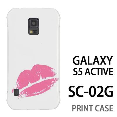 GALAXY S5 Active SC-02G 用『0709 ワンポイントピンクキスマーク』特殊印刷ケース【 galaxy s5 active SC-02G sc02g SC02G galaxys5 ギャラクシー ギャラクシーs5 アクティブ docomo ケース プリント カバー スマホケース スマホカバー】の画像