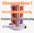 NEW ! Vertical Power Socket  Multi-function Plug Universal Socket/4 USB/ 3m long extension/ charger