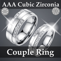 【AAA Cubic Zirconia Titanium Couple Ring】【Flat $9.99 Nett】