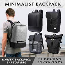 Premium High Quality Unisex Backpack Laptop Waterproof Nylon Leather 15.6/16 Inch Men Women