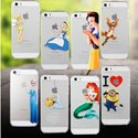 Luxury TPU or hard casing frozen /snow white/Minions/The Simpsons/Ningyo Hime/Spider-Man/Stitch iPhone6iPhone5S iphone 4s 6 iPhone5c