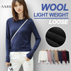 Seven Colors !!! Wool !!! 2016 Autumn New Long Sleeved Sweaters / Larger Size / Loose / Slim / See-through Sweater / Light Weight / Pullover / Jumper / Tops AMII [M18]