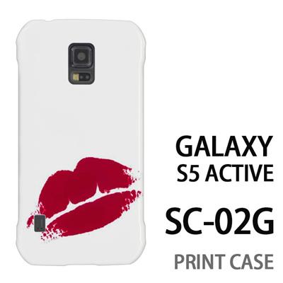 GALAXY S5 Active SC-02G 用『0709 ワンポイント赤キスマーク』特殊印刷ケース【 galaxy s5 active SC-02G sc02g SC02G galaxys5 ギャラクシー ギャラクシーs5 アクティブ docomo ケース プリント カバー スマホケース スマホカバー】の画像