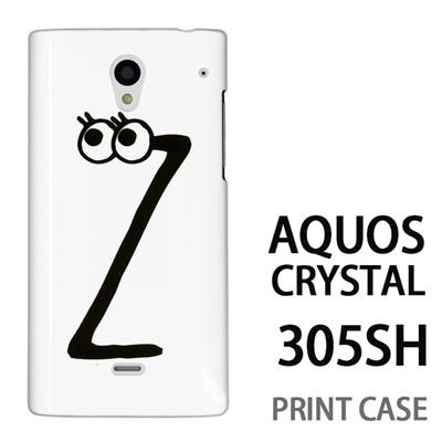 AQUOS CRYSTAL 305SH 用『0626 「Z」』特殊印刷ケース【 aquos crystal 305sh アクオス クリスタル アクオスクリスタル softbank ケース プリント カバー スマホケース スマホカバー 】の画像