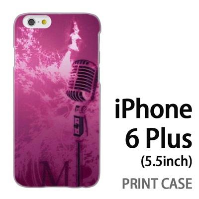 iPhone6 Plus (5.5インチ) 用『No1 M マイク ピンク』特殊印刷ケース【 iphone6 plus iphone アイフォン アイフォン6 プラス au docomo softbank Apple ケース プリント カバー スマホケース スマホカバー 】の画像