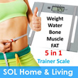 5 in 1 Digital Trainer Scale / Weight Hydration Fat Bone and Muscle Analyzer Weighing Machine / Weighing Scale