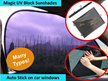 Magic UV Block 97.8% Sunlight Sunshades for Car Side/front/rear Window Screen Visors Cover Shield