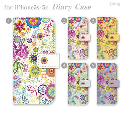 ジアン jiang ダイアリーケース 全機種対応 iPhone6 Plus iPhone5S iPhone5c AQUOS Xperia ARROWS GALAXY ケース カバー スマホケース 手帳型 かわいい おしゃれ きれい Vuodenaika ボタニカル柄 21-ip5-ds0009-zen2 10P06May15の画像
