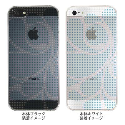 【iPhone5S】【iPhone5】【Clear Arts】【iPhone5Sケース】【iPhone5ケース】【ケース】【カバー】【スマホケース】【クリアケース】【チェック・ボーダー・ドット】【ドットレトロ】【ブルー】 06-ip5-ca0051i-bの画像