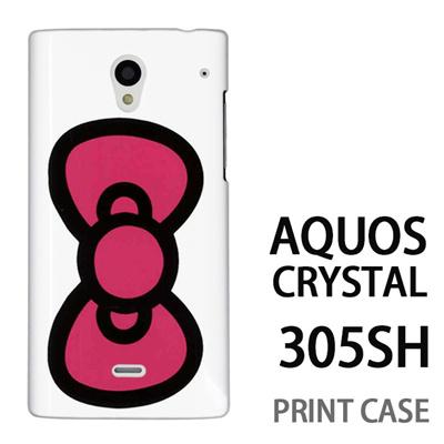 AQUOS CRYSTAL 305SH 用『0626 ピンクリボン』特殊印刷ケース【 aquos crystal 305sh アクオス クリスタル アクオスクリスタル softbank ケース プリント カバー スマホケース スマホカバー 】の画像