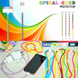 Pelindung Kabel / Cable Cord Protector USB Solid Colour | 2 in 1 | Glow in The Dark | TRANSPARANT