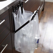 Tower shopping bag hanger black 07134 | Yamazaki businessman | tower YAMAZAKI | plastic shopping bags | garbage bags | space-saving | separation | garbage