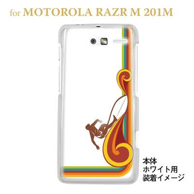 【MOTOROLA RAZR ケース】【201M】【Soft Bank】【カバー】【スマホケース】【クリアケース】【夏のパラダイス】 08-201m-ca0072の画像