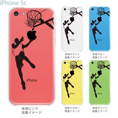 【iPhone5c】【iPhone5c ケース】【iPhone5c カバー】【ケース】【カバー】【スマホケース】【クリアケース】【クリアーアーツ】【バスケットボール・レイアップ】 08-ip5c-ca0111の画像