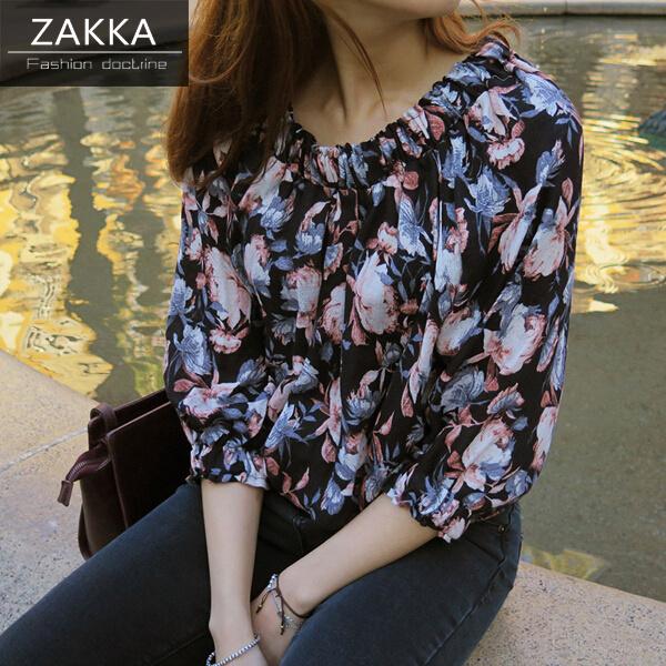 【送料無料】【即納】 人気 新型 ZAKKA 2016 韓国ファッション シャツ シフォンシャツ パフスリーブシャツ ワンピース ショートシャツ ロングシャツ 長袖シャツ 韓国 シャツ レディース