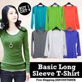 [GET4pcs][43 New Color Updated] KOREAN BASIC T-Shirt_O-neck/V-neck/Long sleeve_High Quality Material_Basic T