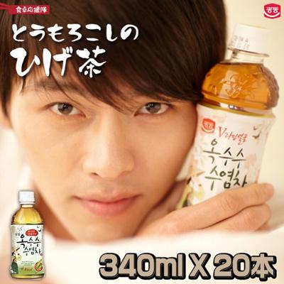 【送料無料】とうもろこしのヒゲ茶 340ml×20本 コーンヒゲ茶 美容 健康飲料 韓国茶 韓国食品の画像