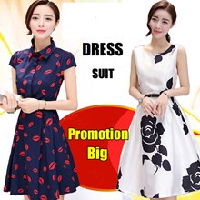【7/12promotion】 Korean style dress/Long sleeve Dress/Sleeveless Short sleeve/OL/Occupation Casual Dress/Little girl/Work Office Dress/Pop/ fashion/high quality/Suit