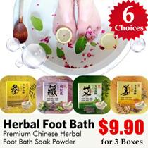 [3 BOXES $9.90 SALE] Premium Chinese Herbal Foot Bath Soak Powder | Detoxification | Diet | Slimming | Health Secrets - Let Daily Hot Water Foot Soak Do Wonders For You!