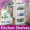 ◆Movable slim Japanese style KITCHEN SHELF  ◆ Christmas/rack shelf in sink/Movable shelf/ kitchen